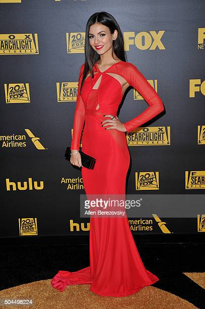 Actress Victoria Justice attends Fox And FX's 2016 Golden Globe Awards Party on January 10 2016 in Beverly Hills California