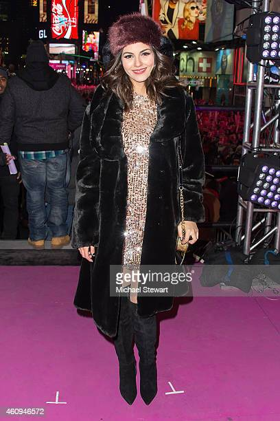 Actress Victoria Justice attends New Year's Eve 2015 in Times Square at Times Square on December 31 2014 in New York City
