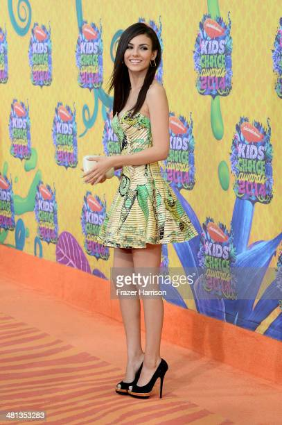 Actress Victoria Justice attends Nickelodeon's 27th Annual Kids' Choice Awards held at USC Galen Center on March 29 2014 in Los Angeles California