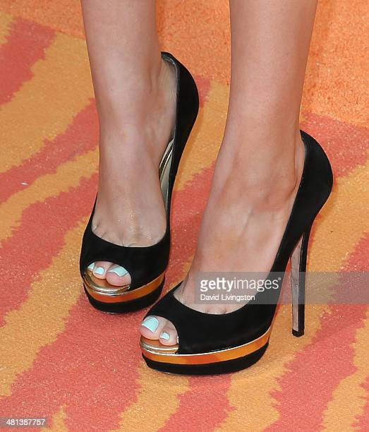 Actress Victoria Justice attends Nickelodeon's 27th Annual Kids' Choice Awards at USC Galen Center on March 29 2014 in Los Angeles California
