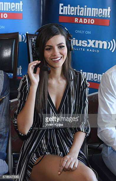 Actress Victoria Justice attends SiriusXM's Entertainment Weekly Radio Channel Broadcasts From ComicCon 2016 at Hard Rock Hotel San Diego on July 21...
