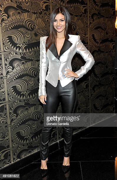 Actress Victoria Justice attends Teen Vogue Celebrates the 13th Annual Young Hollywood Issue with Emporio Armani on October 2 2015 in Beverly Hills...