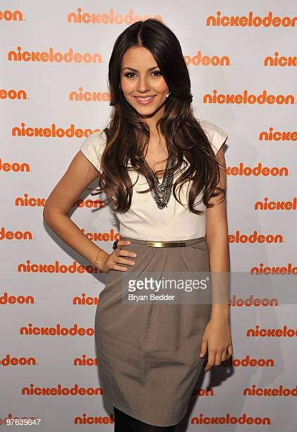 Actress Victoria Justice attends the 2010 Nickelodeon Upfront Presentation at Hammerstein Ballroom on March 11 2010 in New York City
