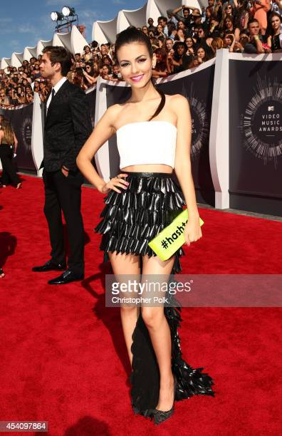 Actress Victoria Justice attends the 2014 MTV Video Music Awards at The Forum on August 24 2014 in Inglewood California