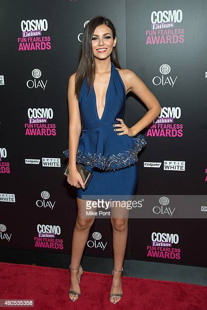 Actress Victoria Justice attends the 2015 Fun Fearless Latina Awards at Hearst Tower on October 13 2015 in New York City