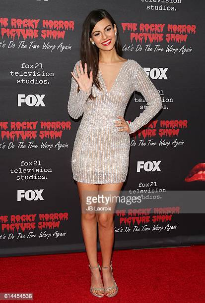 Actress Victoria Justice attends the premiere of Fox's 'The Rocky Horror Picture Show Let's Do The Time Warp Again' on October 13 2016 in West...