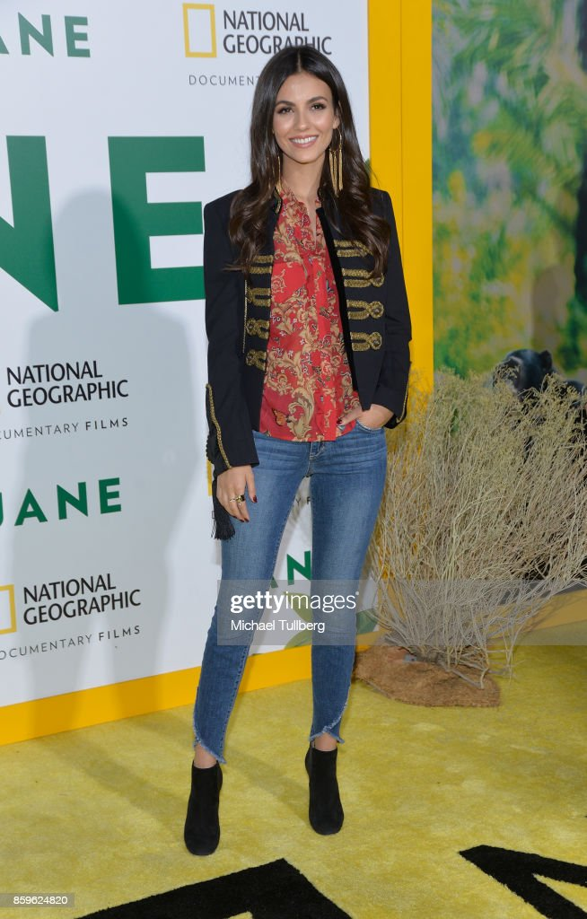 Actress Victoria Justice attends the premiere of National Geographic Documentary Films' 'Jane' at the Hollywood Bowl on October 9, 2017 in Hollywood, California.