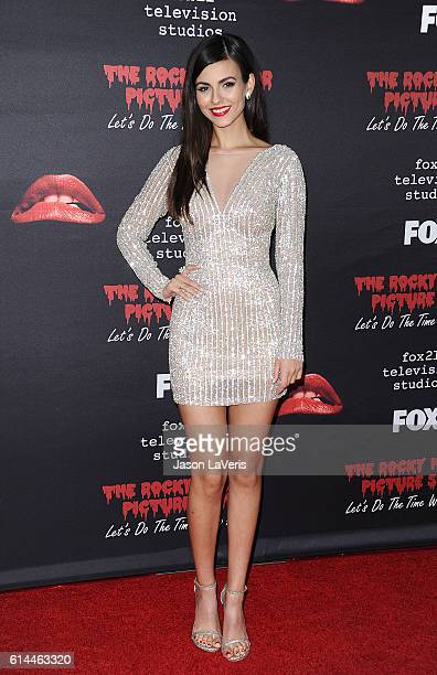 Actress Victoria Justice attends the premiere of 'The Rocky Horror Picture Show Let's Do The Time Warp Again' at The Roxy Theatre on October 13 2016...