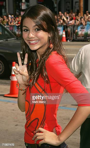 Actress Victoria Justice attends the premiere of Warner Bros Pictures' 'Ant Bully' at Graumans Chinese theatre on July 23 2006 in Hollywood California