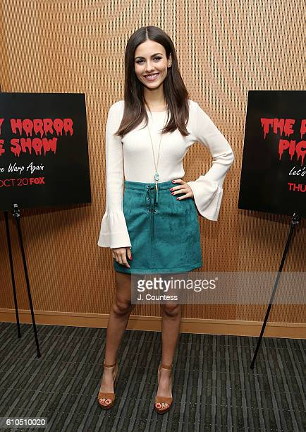 Actress Victoria Justice attends The Rocky Horror Picture Show Let's Do The Time Warp Again Photo Call at FOX Studios on September 26 2016 in New...
