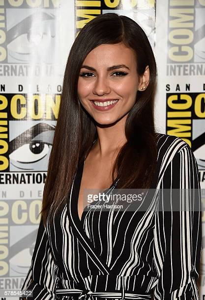 Actress Victoria Justice attends 'The Rocky Horror Picture Show' press line during ComicCon International 2016 at Hilton Bayfront on July 21 2016 in...
