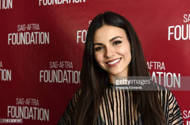 Actress Victoria Justice attends the SAGAFTRA Foundation Conversations With Summer Night event at the SAGAFTRA Foundation Screening Room on July 10...