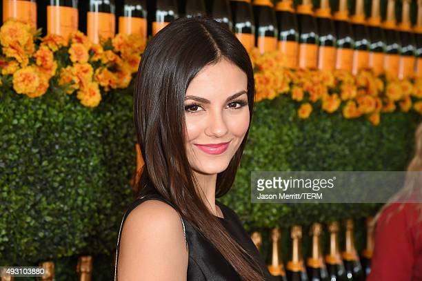 Actress Victoria Justice attends the SixthAnnual Veuve Clicquot Polo Classic at Will Rogers State Historic Park on October 17 2015 in Pacific...