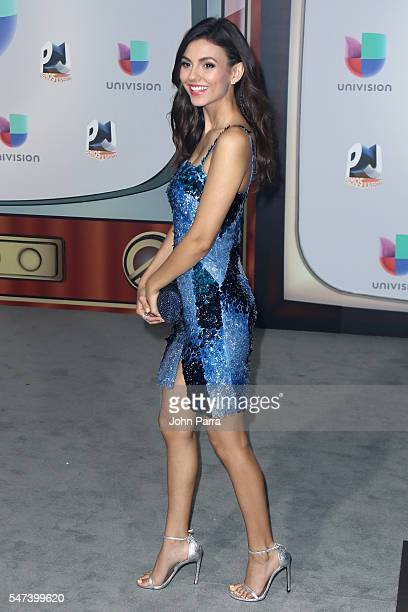 Actress Victoria Justice attends the Univision's 13th Edition Of Premios Juventud Youth Awards at Bank United Center on July 14 2016 in Miami Florida