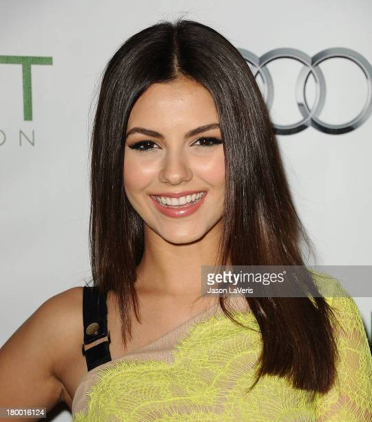 Actress Victoria Justice attends the Voices On Point musical gala to benefit the Point Foundation at the Hyatt Regency Century Plaza on September 7...