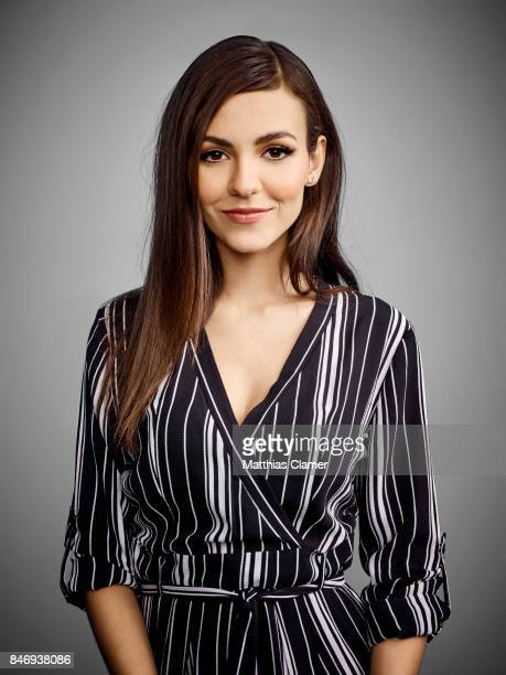Actress Victoria Justice from 'The Rocky Horror Picture Show' is photographed for Entertainment Weekly Magazine on July 21 2016 at Comic Con in the...