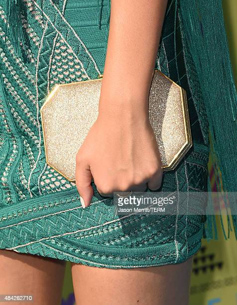 Actress Victoria Justice handbag detail attends the Teen Choice Awards 2015 at the USC Galen Center on August 16 2015 in Los Angeles California