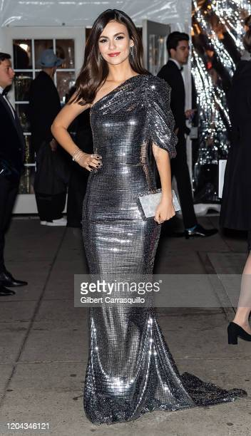 Actress Victoria Justice is seen arriving to the 2020 amfAR New York Gala at Cipriani Wall Street on February 05, 2020 in New York City.