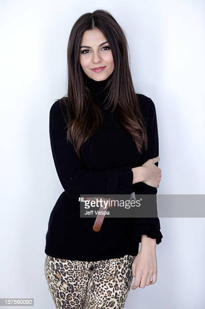 Actress Victoria Justice poses for a portrait during the 2012 Sundance Film Festival at the WireImage Portrait Studio at TMobile Village at the Lift...