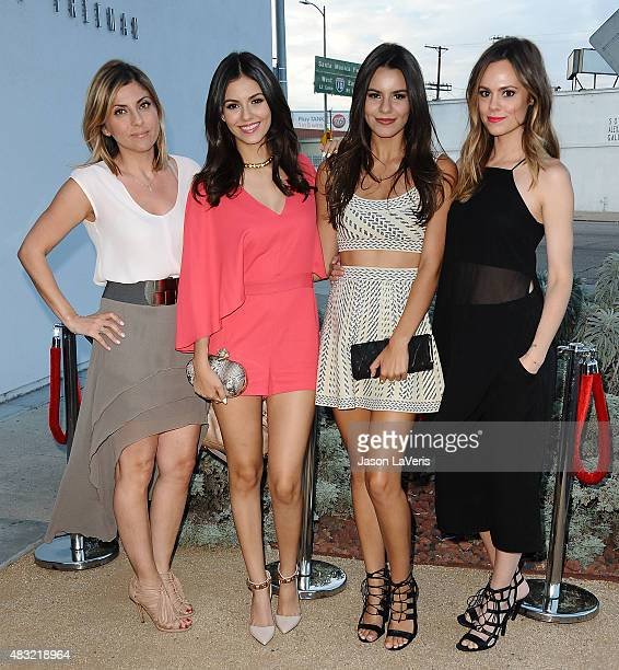 Actress Victoria Justice sister Madison Grace Reed and guests attend the BCBG Max Azria Resort 2016 collections at Samuel Freeman Gallery on August 6...