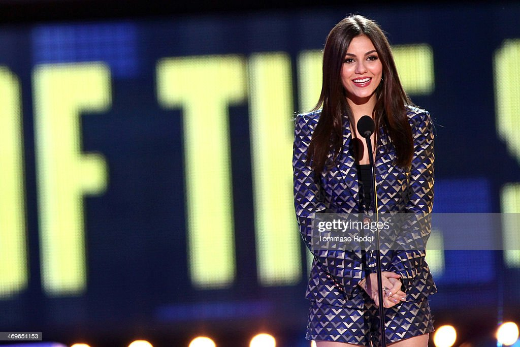 Actress Victoria Justice speaks onstage during the 4th Annual Cartoon Network Hall Of Game Awards held at the Barker Hangar on February 15, 2014 in Santa Monica, California.