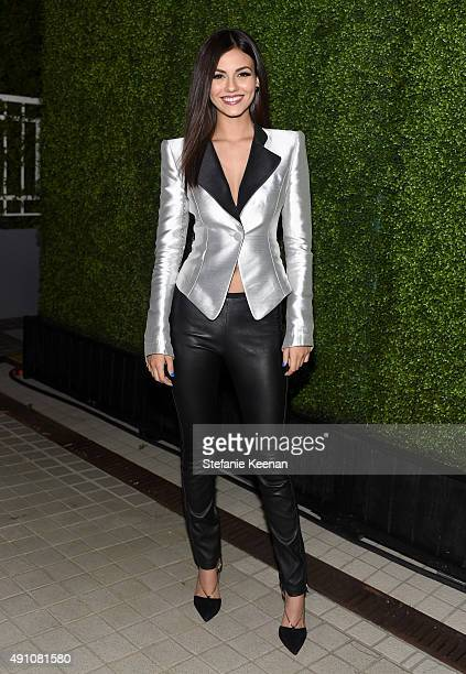 Actress Victoria Justice wearing Emporio Armani attends Teen Vogue Celebrates the 13th Annual Young Hollywood Issue with Emporio Armani on October 2...