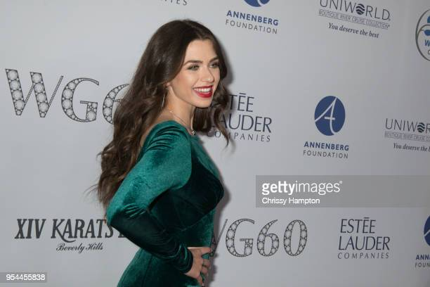 Actress Victoria Konefal arrives for red carpet arrivals at Women's Guild CedarsSinai 60th Anniversary Diamond Jubilee Gala held at The Beverly...
