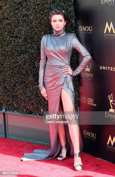 Actress Victoria Konefal attends the 45th Annual Daytime Creative Arts Emmy Awards at Pasadena Civic Auditorium on April 27 2018 in Pasadena...