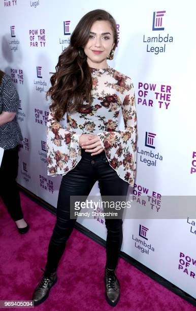 Actress Victoria Konefal attends the Lambda Legal 2018 West Coast Liberty Awards at the SLS Hotel on June 7 2018 in Beverly Hills California