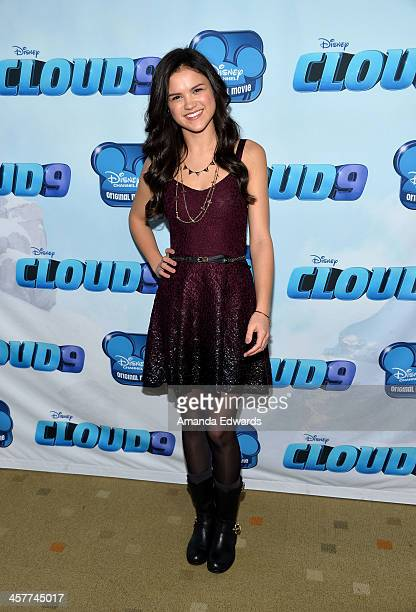Actress Victoria Moroles arrives at the Disney Channel's Original Movie 'Cloud 9' red carpet premiere on December 18 2013 in Burbank California
