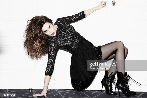 Actress Victoria Olloqui is photographed for Self Assignment on January 30, 2013 in Paris, France.
