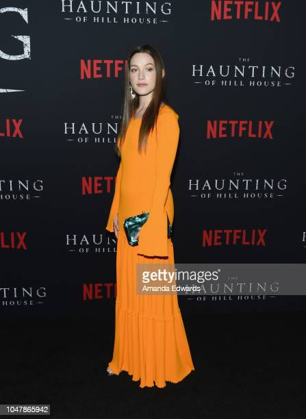 Actress Victoria Pedretti arrives at Netflix's The Haunting Of Hill House Season 1 Premiere at ArcLight Hollywood on October 8 2018 in Hollywood...