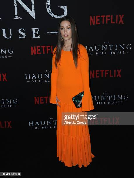 Actress Victoria Pedretti arrives Netflix's The Haunting Of Hill House Season 1 Premiere held at ArcLight Hollywood on October 8 2018 in Hollywood...