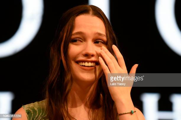 Actress Victoria Pedretti of The Hauting of Hill House of Netflix during day 3 of Argentina Comic Con 2018 at Costa Salguero on December 09 2018 in...