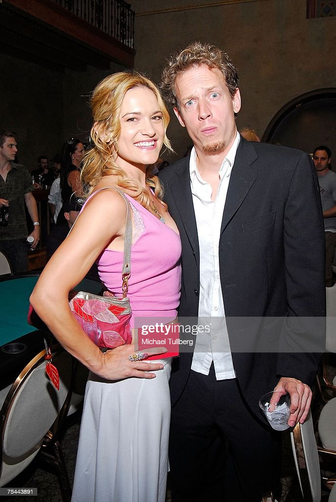 Actress Victoria Pratt and guest enjoy The Clear View Treatment Center's Charity Texas Hold'Em celebrity poker tournament, held at the Roosevelt Hotel on July 16, 2007 in Los Angeles, California.