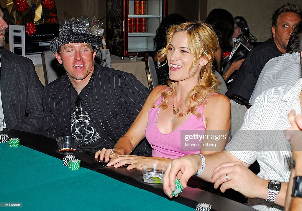 Actress Victoria Pratt enjoying herself at the table at The Clear View Treatment Center's Charity Texas Hold'Em celebrity poker tournament, held at the Roosevelt Hotel on July 16, 2007 in Los Angeles, California.