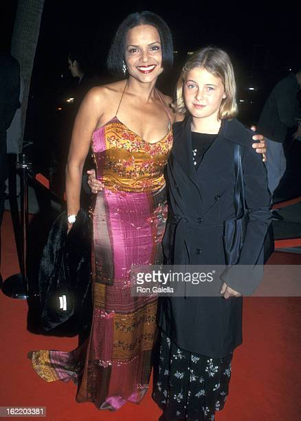 Actress Victoria Rowell and daughter Maya Fahey attend the Screening of the Television Movie Feast of All Saints on November 7 2001 at Samuel Goldwyn...