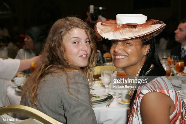 Actress Victoria Rowell and daughter Maya Rowell attend the Victoria Rowell Steps Out For High Tea At Noon event at the Beverly Hills Hotel on May 18...