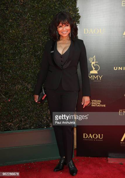 Actress Victoria Rowell attends the 45th Annual Daytime Creative Arts Emmy Awards at the Pasadena Civic Auditorium on April 27 2018 in Pasadena...