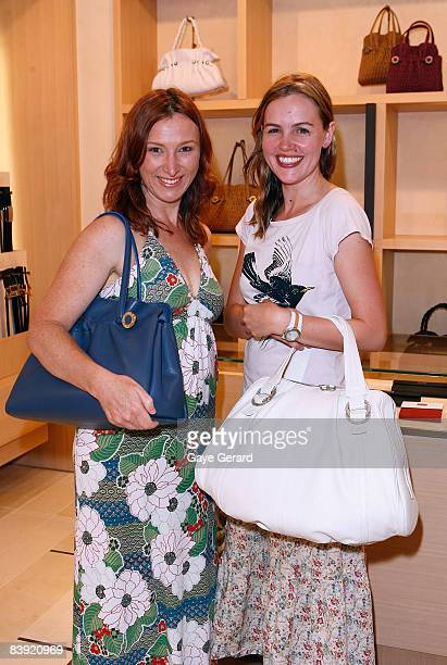 """Actress Victoria Thaine from """"Rain Shadow"""" and Simone Casey from Who Magazine attend the High Jewellery Collection Preview ahead of the AFI Awards at..."""