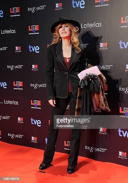 Actress Victoria Vera attends Goya Awards Nominated Gala at the Casa de Correos on January 22 2011 in Madrid Spain