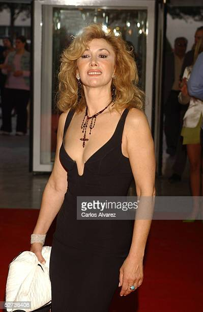 Actress Victoria Vera attends the Spain TV Academy Awards on April 29 2005 in Madrid Spain