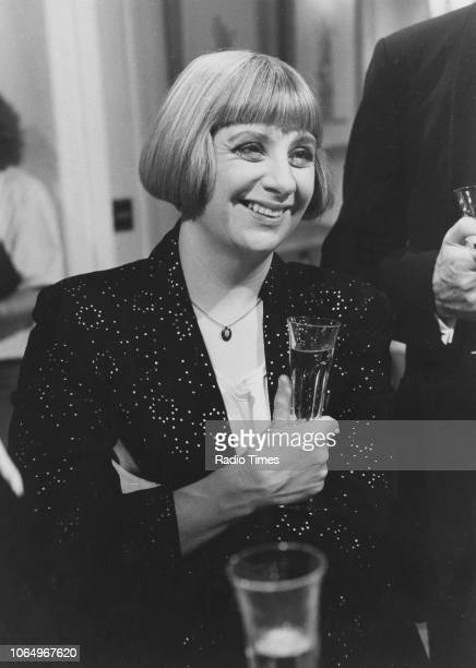Actress Victoria Wood in a scene from the episode 'Staying In' of the comedy series 'Victoria Wood' October 1st 1989