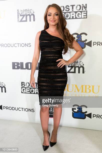 Actress Victorya Brandart attends George Jung's Birthday Celebration And Screening Of Blow at TCL Chinese 6 Theatres on August 6 2018 in Hollywood...