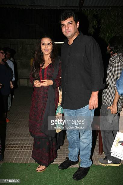 Actress Vidya Balan and Producer Siddharth Roy Kapoor at screening of Aashiqui 2 in Mumbai on 24th April 2013