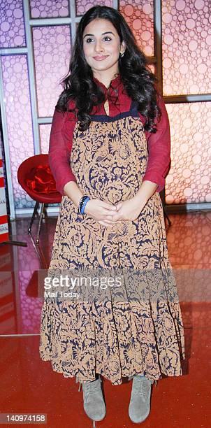Actress Vidya Balan at a promotional event for her upcoming film 'Kahaani'