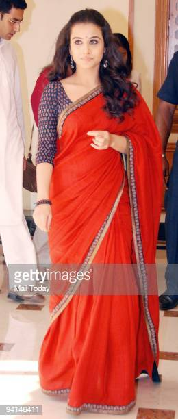 Actress Vidya Balan at an event to promote the film Paa in Mumbai on Thursday December 3 2009