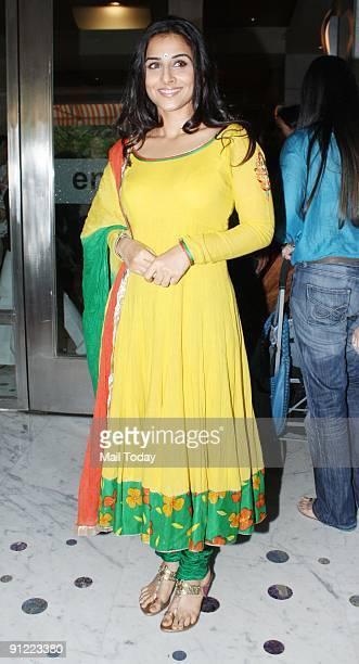 Actress Vidya Balan at the Indian Merchant's Chamber Ladies Wing Women Entrepreneurs show in Mumbai