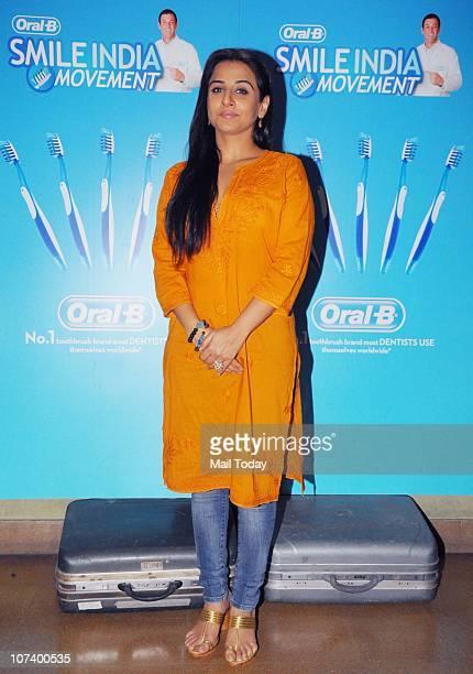 Actress Vidya Balan at the Launch of OralB Smile India Movement