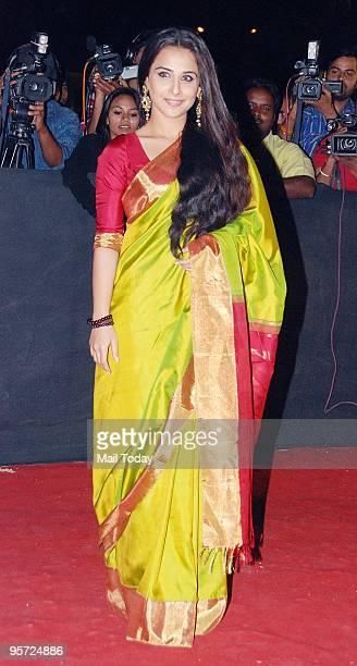 Actress Vidya Balan at the Star Screen Awards in Mumbai on Saturday January 9 2010